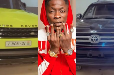 """Shatta Wale Adds A Newly Customised """"1 Don"""" Range Rover And A V8 Land Cruiser To His Car Fleet (Video)"""