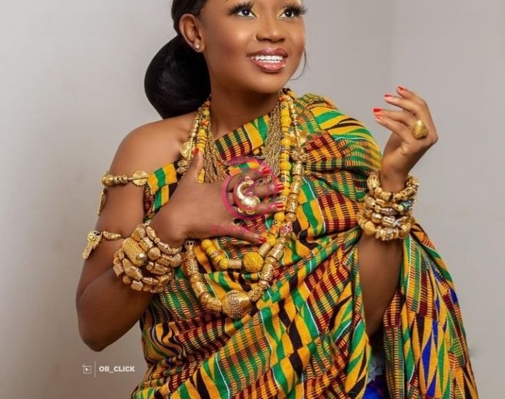 Akuapem Poloo Drops Decent Traditionally Dressed Photos On Her Birthday