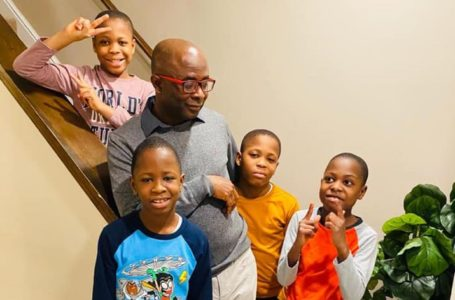 Kwasi Aboagye's Quadruplets Pen Down Touching Messages For Him On Father's Day – See Photos