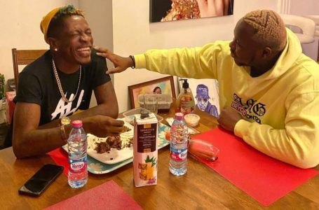 Fun Time: Medikal And Shatta Wale Splash Cash On Themselves At A Party (Video)