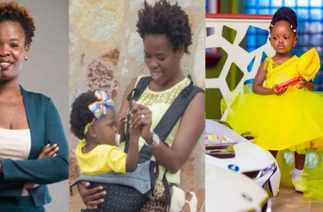 Stunning Photos Of Ohemaa Woyeje's Beautiful Daughter Surface Online As She Turns Two Years