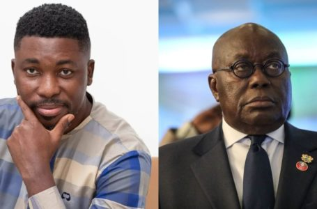 A-Plus Jabs President Akufo-Addo For Flouting COVID-19 Protocols With School Kids (See Photos)