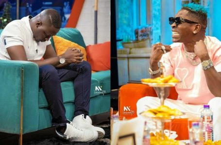 Shatta Wale Claims Arnold Asamoah's Shoes Cost GHC2.50 During Their Clash On Live TV (Watch Video)
