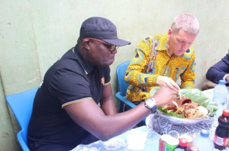 Outgoing British High Commissioner Iain Walker Embarks On Waakye Tour With Bola Ray