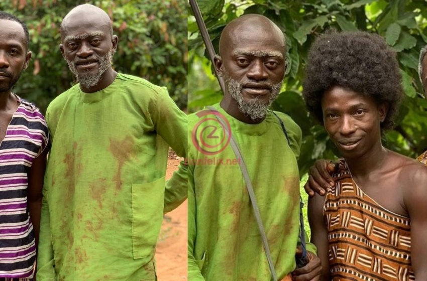 PHOTOS: Okyeame Kwame And Patapaa Join Lilwin On Set To Shoot For His New TV Series, 'Agya Bofo)'