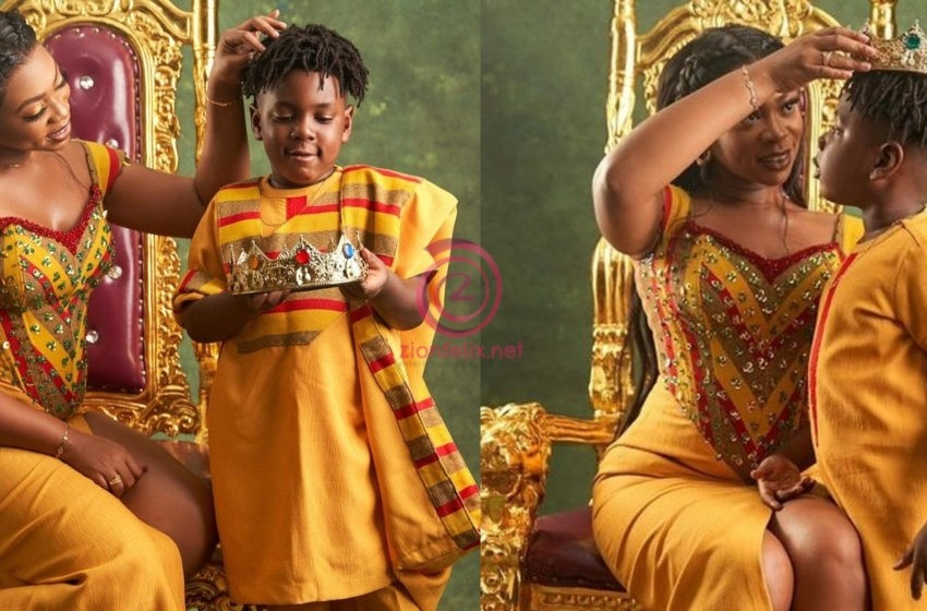 """Michy Claps Back At A Netizen For Saying """"God Gave Him To You And His Dad…Stop Acting Like A Single Mum"""" Following Her Decision To Baptise Majesty (+screenshots)"""