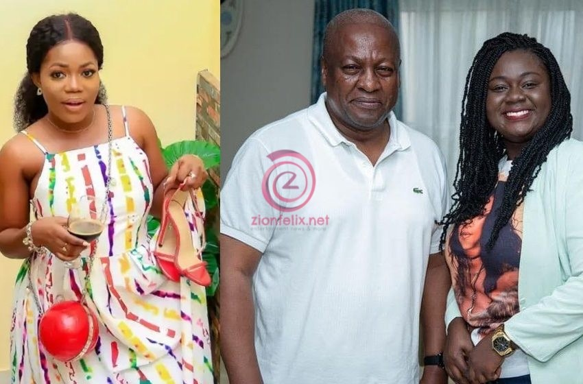 Mzbel Threatens To Drop Big Secret As She Clashes With NDC Lady On Social Media Over Former President Mahama (+screenshots)