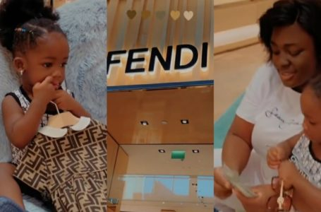 Tracey Boakye Blows Wads Of Dollars On Luxury Clothing For Her Daughter (Video)