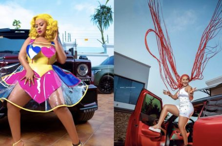 Nana Ama Mcbrown Flaunts Her Expensive Cars And Thighs In Colourful Photos To Celebrate Her 44th Birthday