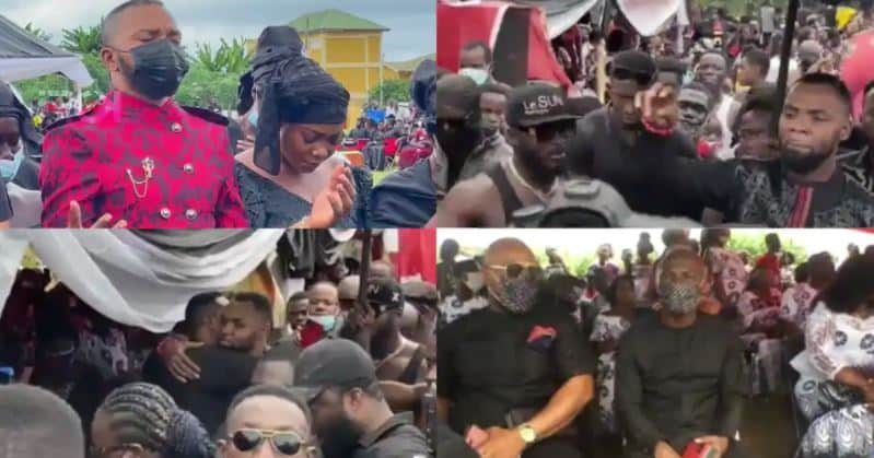 VIDEO: Check Out The Moment Rev Obofour And His Bodyguards Landed At Bishop Obinim's Father's Funeral In Style