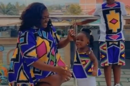 Tracey Boakye And Her Kids Wear Beautiful Matching Outfits (+Video)