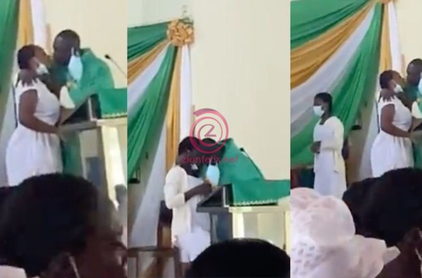 St Monica's College Of Education Students React To 'Leaked' Viral Video Of Reverend Father K!ssing Female Students On The Lips – Watch