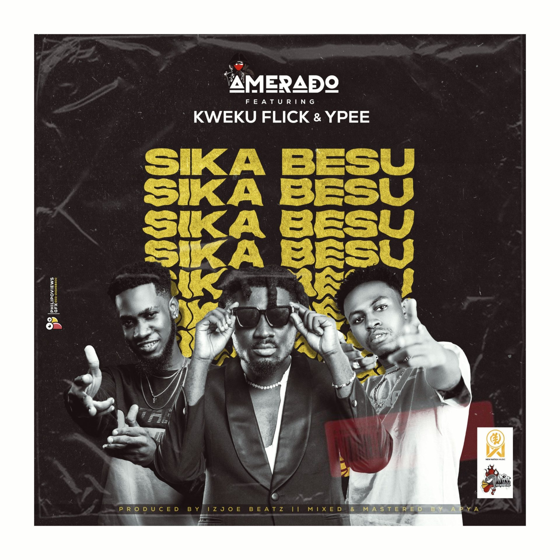Amerado Releases A New Song 'Sika Besu' Feat. Kweku Flick And YPee – Stream