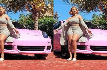 Watch Video Of The Moment Hajia4Reall Gets Blown Away As She Receives Her Pimped And Customized Porsche