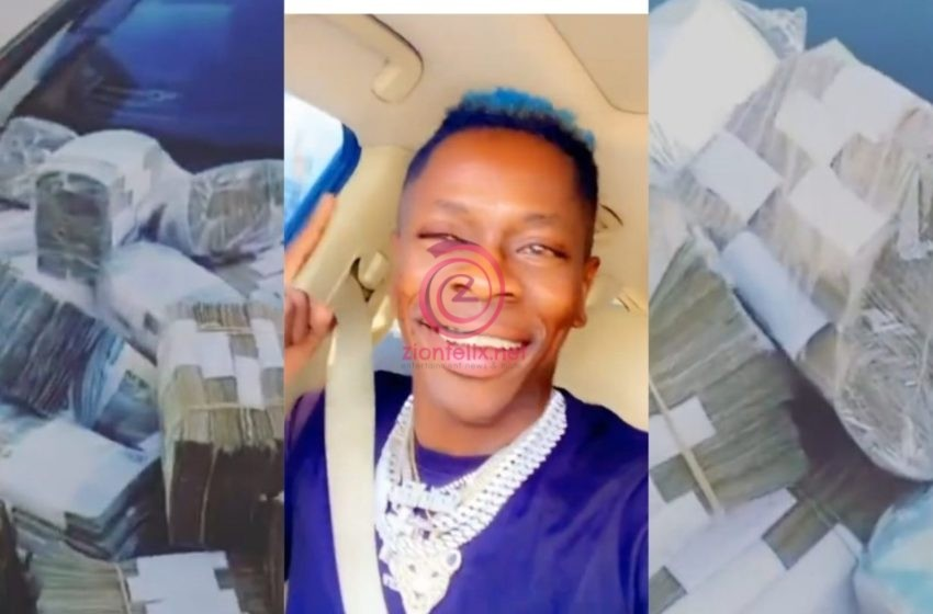 VIDEO: Shatta Wale Flaunts Bundles Of Cash On Social Media To Prove He Is The Richest Musician In Ghana