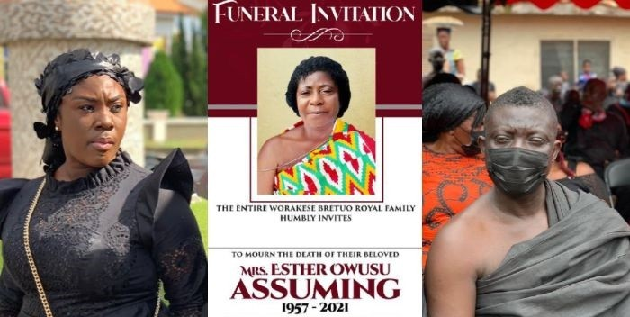 PHOTOS: Kumawood Stars Turn Up In Their Numbers To Commiserate With Bill Asamoah As He Buries His Mother