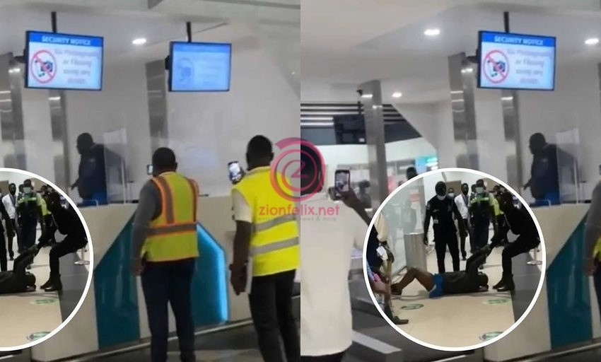 Ghanaian Man Goes M@d And Destroys Equipment At Kotoka International Airport Soon After Checking In To Travel Abroad – Watch Video